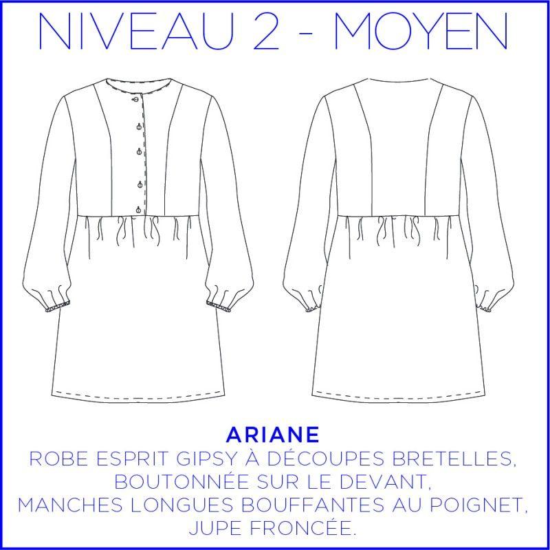 Woman's pattern dress Ariane
