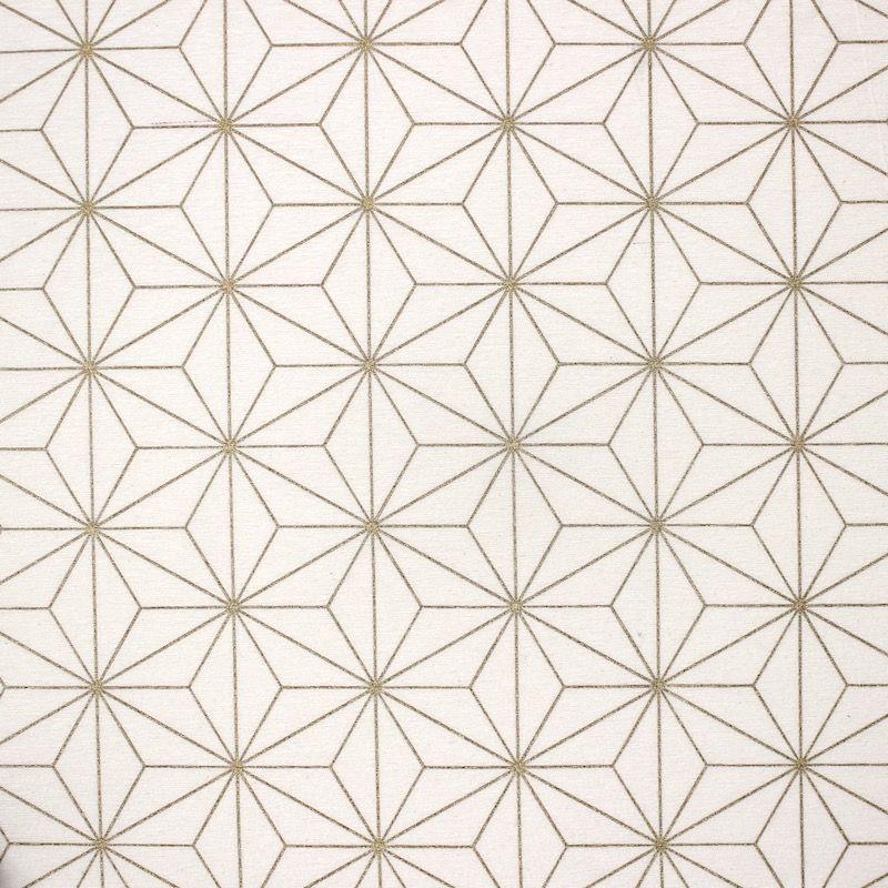 Tissu d'ameublement à motif géométrique doré