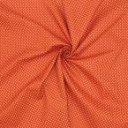 Tissu en coton pois - brique