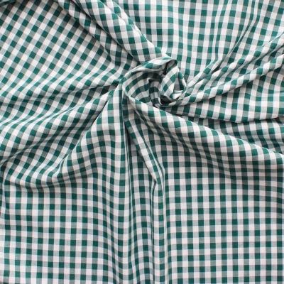 Katoen groen-wit geruit