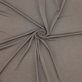 Jersey viscose fabric - brown