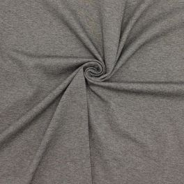 Heavy jersey fabric - mottled grey