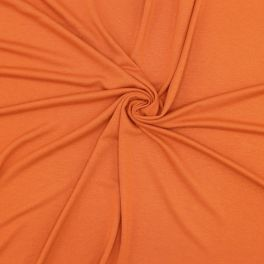 Viscose jersey fabric - burnt orange