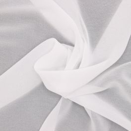 Tissu voile polyester - blanc
