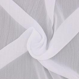 Tissu voile froissé polyester - blanc