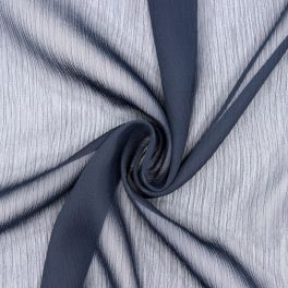 Crumpled polyester veil - navy blue