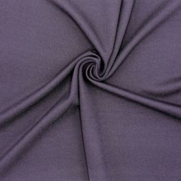 Fabric in viscose and polyester - eggplant-color