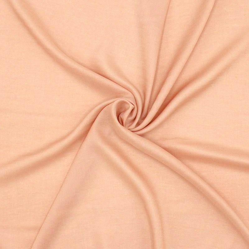 Tissu viscose - pêche