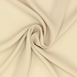 Light crêpe fabric in polyester - beige