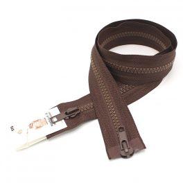 Separable parka zipper - brown