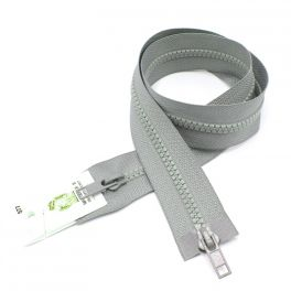 Separable parka zipper - ash grey
