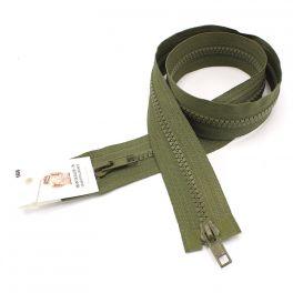 Separable parka zipper - khaki