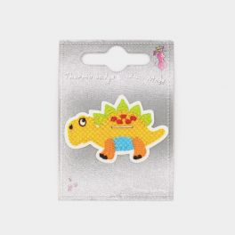 Iron-on patch yellow dinosaur