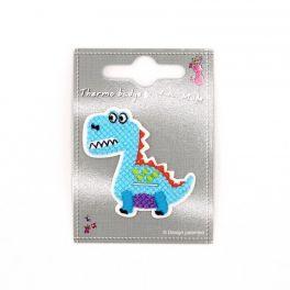 Dinosaure bleu thermocollant