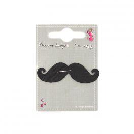 Iron-on patch black moustache