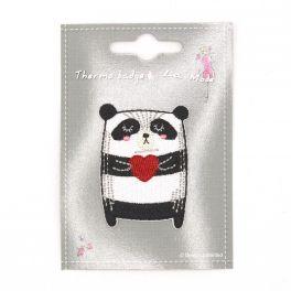 Panda coeur thermocollant