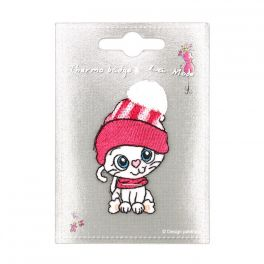Iron-on patch cat with hat