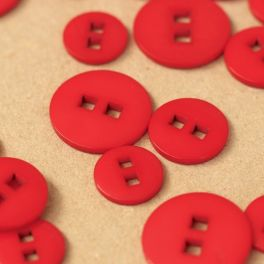 Resin button - red