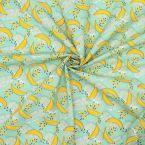 Tissu coton banane - aigue marine
