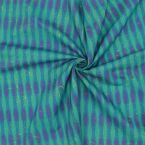 Tissu coton graphique - vert/canard