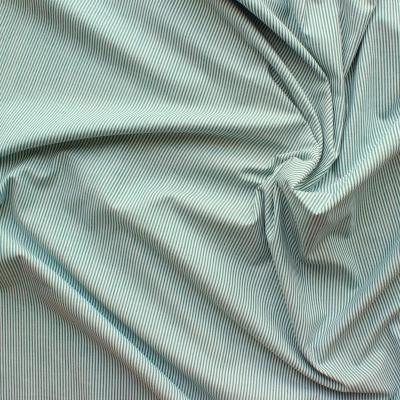 Groen en wit gestreepte katoen stof