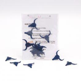 Mini opstrijkbare buffalokop - blauw