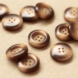 Round button - brown and beige