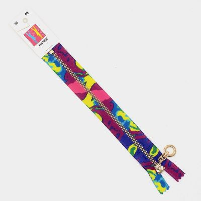 Non separating zipper - camouflage colors