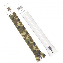 Non separating zipper - military colors