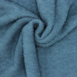 Tissu éponge hydrophile  - bleu jean
