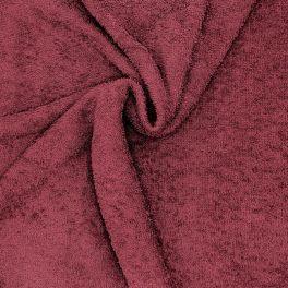 Tissu éponge hydrophile - bordeaux