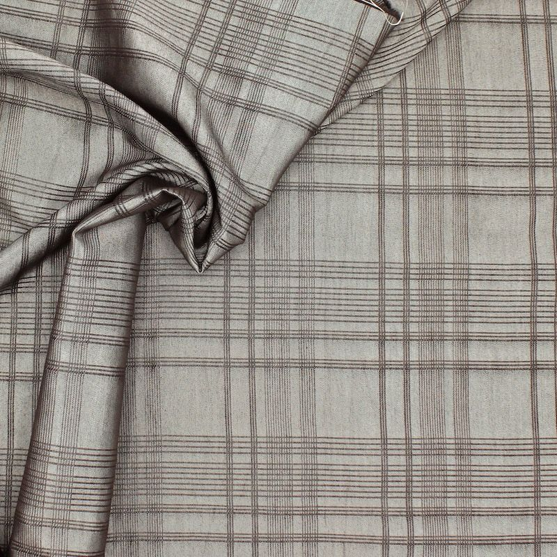 Checkered apparel fabric - taupe
