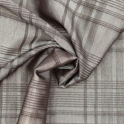 Tissu vestimentaire carreaux - taupe
