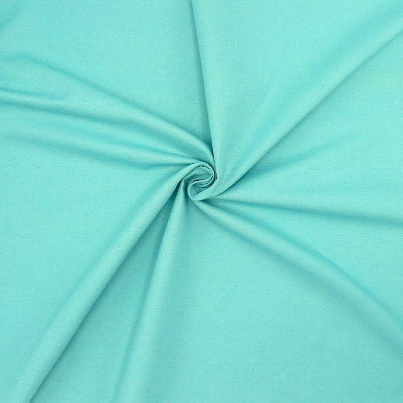 Tissu en coton chiné bleu aigue-marine
