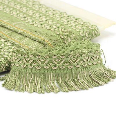 Viscose fringes - green