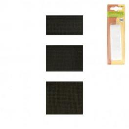 Geribbeld sterke elastiek - zwart