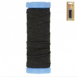 elastische naaigaren - zwart