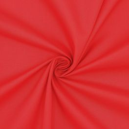 Popeline de coton / polyester - rouge