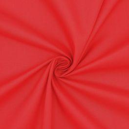 Popeline van katoen / polyester - rood