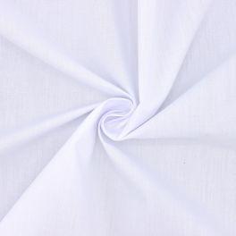 Popeline de coton / polyester - blanc