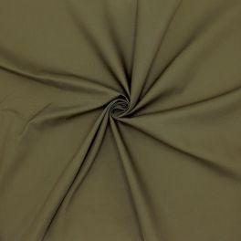 Popeline de coton / polyester - kaki