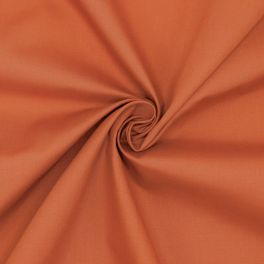 Popeline de coton / polyester - rouille