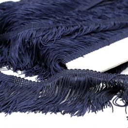 Viscose franjes - marineblauw
