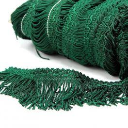 Viscose fringes - glass green