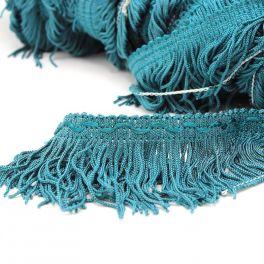Viscose franjes - eendblauw