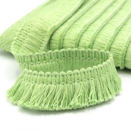 Cotton fringes - jade-green