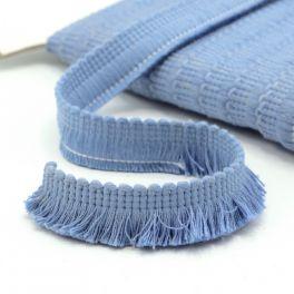 Katoen franjes - hemelsblauw