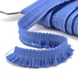 Katoen franjes - jeansblauw