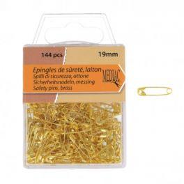 Epingle de sureté dorée 19mm