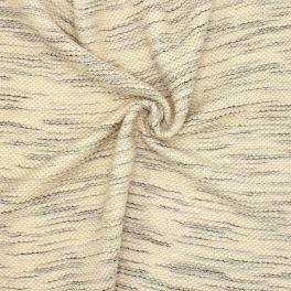 Tissu laine à bouclettes - écru